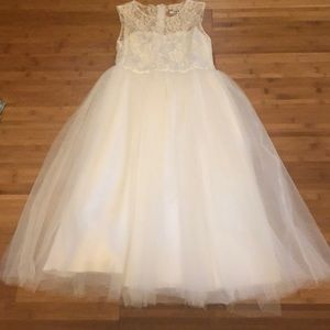 Other - Girls lace and tulle white dress